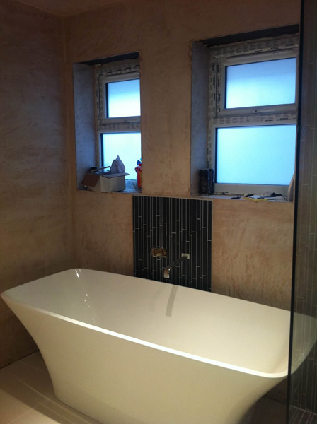 Loft conversion new bathroom