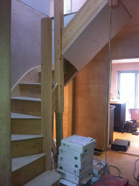 Loft conversion new stairs to bedroom