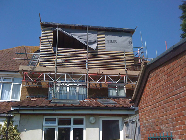 Part build loft conversion Dorma window