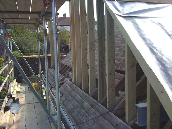 Part build loft conversion roof joists