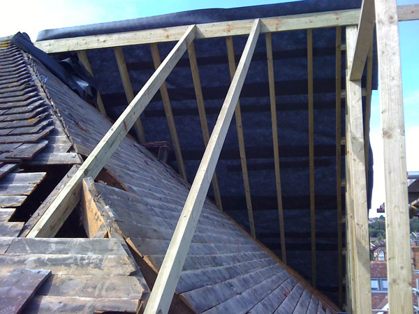 Part build loft conversion roof work
