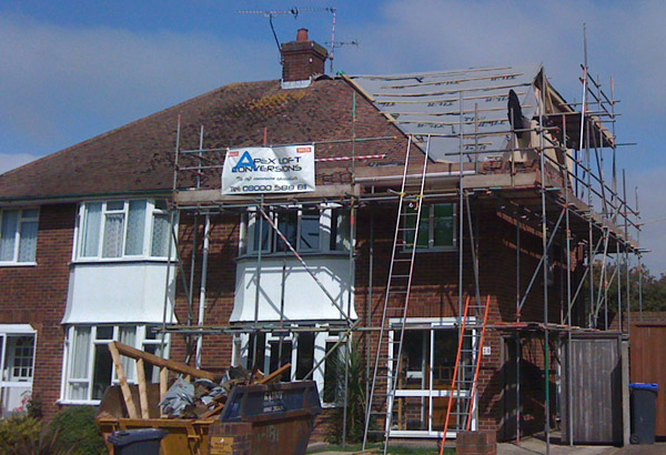 Semi-detached loft conversion in Worthing, Sussex